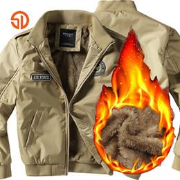 28cab87c443 Fashion Ma1 Bomber Jackets Men Clothes 2018 Autumn Winter Thick Ari Force  Army Coat Fleece Jacket Mens Plus Size XXXXL