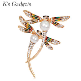 $enCountryForm.capitalKeyWord NZ - K's Gadgets Cute Enamel Animal & Insect Dragonfly Brooches Pins for Women Brooch Clothing Accessories Jewelry