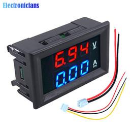Mini Dijital Voltmetre Ampermetre DC 100 V 10A Paneli Amp Volt Akım Ölçer Cihazı 0.28
