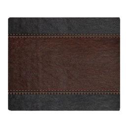 "$enCountryForm.capitalKeyWord Canada - Brow And Black Vintage Leather Look Soft Fleece Throw Blanket, 50""x60"" Stadium Blanket Air-Condition Nap"