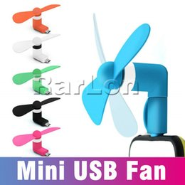 smartphone ip 2019 - 2 in 1 Portable Mini Micro USB Fan Mobile Phone Gadget Cooler For iP 7 8 Samsung S8 Note Any Smartphone Mini fan With Op