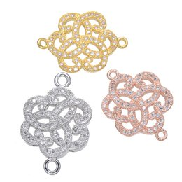 China 10 pcs lot fashion shiny flower Connector Charm good for Bracelets Necklaces Earrings Jewelry Making Findings suppliers