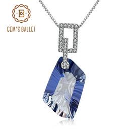 $enCountryForm.capitalKeyWord NZ - GEM'S BALLET 21.20Ct Natura Iolite Blue Mystic Quartz Gemstone Pendant Necklace 925 Sterling Silver Fine Jewelry for Women S18101307