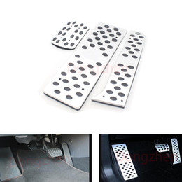 Vw Volkswagen Pedals NZ - 3pcs set Car Foot Rest pedal AT Pedal For VW Sagitar Scirocco Tiguan Touran Car Styling