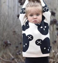 Discount baby girls winter jumpers - 2018 New INS Cartoon Panda Double-Layer Woolen Sweater Spring Autumn Winter Baby Boy and Girl Woolen Coat