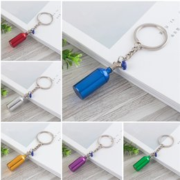 Wholesale Car Keychains Accessories Novelty Turbine Bottle Design Keyring Jewelry Bag Hangs Metal Key Buckle Hot Sale kt Y