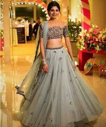e9e7f3d203 Sparkly Two Pieces 2018 India Evening Dresses Scoop Beaded Sequins Prom  Dresses Tulle Sexy Bridesmaid Formal Party Gowns