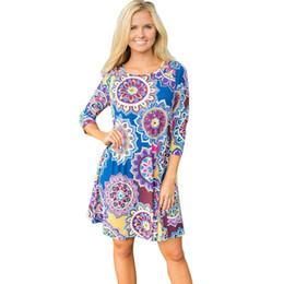 641dcd00159 Лучшие продажи женские летние платья старинные Богемный стиль дамы Макси  вечер пляж цветочные a-line платья vestidos де феста