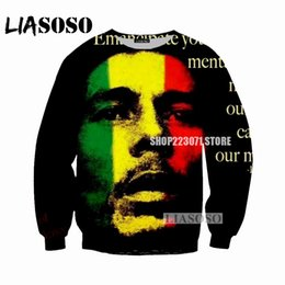 silver bobs 2019 - LIASOSO 2018 new men and women sweatshirt singer Bob Marley sweatshirt 3D printing men and women sweatshirts clothing M0