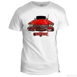 Christine Stephen King Horror Sci Fi filme filme Cool Retro Mens Film T Shirt em Promoção