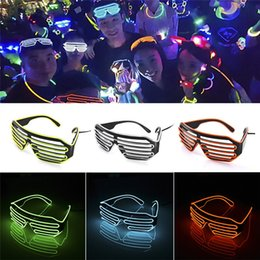 Wholesale EL Wire Light LED Glasses Bright Light Party Glasses Club Bar Performance Glow Party DJ Dance Eyeglasses Party Supplies GGA673