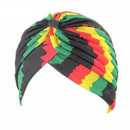 $enCountryForm.capitalKeyWord UK - CUHAKCI New Fashion Dot Rasta Turban Hats Indian Unisex High Quality Women'sStyle Head Cap Hat Hair Cover Various Print Design