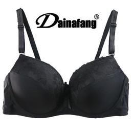 78579bfe54 Hot Sale Women Cute Cheap Bras 40C D 42C D 44C D Cup Black Lace Push Up Bras  For Plus Size Women soutien gorge