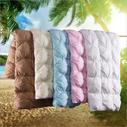 $enCountryForm.capitalKeyWord NZ - Best Gift for Family 100% Goose Down Filling Soft Duvet Comforter Bedding Filler Bread Shape Warm Blanket Winter Quilt
