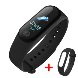 Venta al por mayor de M3 Plus Pulsera Inteligente IP67 Impermeable Frecuencia Cardíaca Monitor de Presión Arterial Sueño Llamada Recordar Deporte Muñequera Banda Inteligente Para xiaomi Samsung
