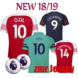 e8e275293ec 18 19 Arsenal Gunners OZIL ALEXIS AUBAMEYANG soccer jersey 2018 WILSHERE  GIROUD LACAZETTE CHAMBERS XHAKA home away football shirt