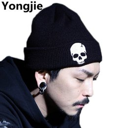 $enCountryForm.capitalKeyWord Canada - Yongjie Hot Sale Unisex Acrylic Knit Hat Winter Hats Skull Style Skullies & Beanies For Woman And Man 3 Colors Warm Winter Cap
