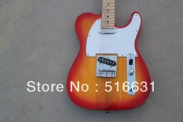 guitar tele sunburst Canada - wholesale high quality Free Shipping New tele sunburst electric Guitar spailted tree burl Guitars