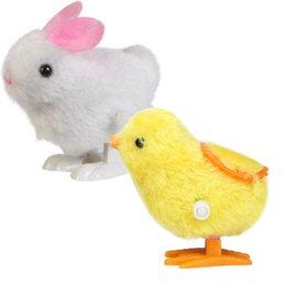 Discount chick toys - Toy kids New Infant Child Toys 2 Pic Chick and Bunny Hopping Wind Up Easter Rabbit Chick Soft toys for baby children