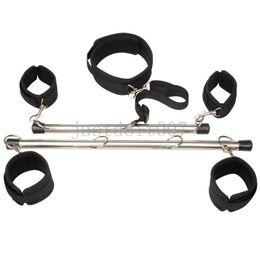 $enCountryForm.capitalKeyWord UK - Slave Spreader Bar Ankle Wrist Cuffs Restraints Flirt steel pipe kinky handcuffs #R98
