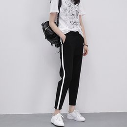 Spring and summer thin section sports pants female large size loose students trousers casual feet harem pants nine points Korean version