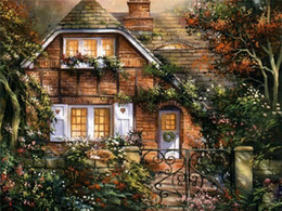 $enCountryForm.capitalKeyWord NZ - Diy diamond painting cross stitch kit rhinestone mosaic home decoration gift scenery forest wood house full square diamond embroidery sq0065