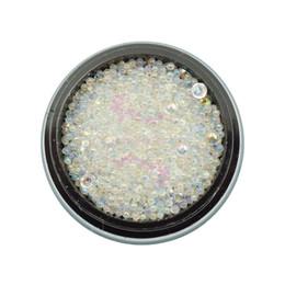 $enCountryForm.capitalKeyWord UK - 1 Pot Mix Tiny Glass Rhinestones Ball Caviar Beads Transparent Faux Pearl AB Color 3D Salon Acrylic Nail Art Manicure DIY Decor