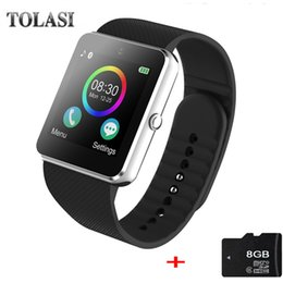 $enCountryForm.capitalKeyWord NZ - Top Men Smart Watch Android GT08 Clock With Sim Card Slot Push Message Bluetooth Connectivity Android Phone PK DZ09 Smartwatch