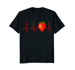 $enCountryForm.capitalKeyWord Canada - Strawberry Shirt - Strawberry Heartbeat Tee For Berry Lovers Sale 100 % Cotton T Shirt Top Tee Tee Shirt For Men O - Neck Tops