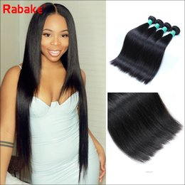 Discount cheap remy hair extensions - Rabake Wholesale Cheap 3 or 4 Bundle Indian Straight Hair Extensions 8-28 inch Remy Hair 100% Human Hair Weave Bundles M