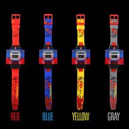 $enCountryForm.capitalKeyWord NZ - Kids Wristwatch Didital Watch Cartoon Robot Transformation Toy For Boy Girl Waterproof Watch Sport Wrist fashion