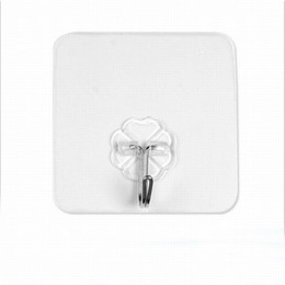 $enCountryForm.capitalKeyWord UK - 100pcs Set Bearing 5KG Transparent Seamless Adhesive Hook Waterproof Strong Sticking Wall Hook Hanger Kitchen Bathroom Suckers Accessories