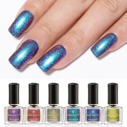 Discount galaxy nail art - BORN PRETTY Chameleon Glitter Nail Polish 6ml Galaxy Series Shinning Powder Nail Art Lacquer Varnish (Black Base Needed)
