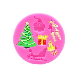 Christmas siliCone baking molds online shopping - Baking Moulds Christmas Silicone Cake Moulds Candy Molds Silicone Santa Claus Christmas Tree Deer Shaped Baking Kitchen Tools