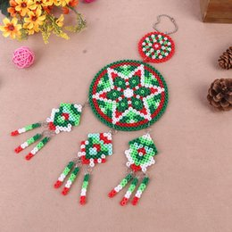 Discount perler beads for DIY Creative Dreamcatcher Perler Beads Toys Unique Campanula Design Pendant For Home Living Room Decor Kids Birthday Gif