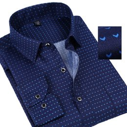 Polka Dotted Shirt For Men NZ - 2018 Spring Polka Solid Man Casual Shirts Classic Men Dress Shirt Long Sleeve High Quality Fashion Clothes For Male Plus Size