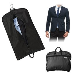 06d9bc115ca2 Dustproof Hanger Storage Protector Travel Storage Organizer Case Black Coat Clothes  Garment Suit Cover Bags