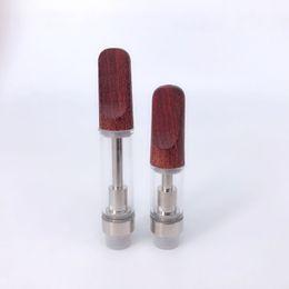 $enCountryForm.capitalKeyWord Australia - Wood tips Vape Cartridge ceramic Mouthpiece Ceramic Oil Cartridge .5ml 1ml Vape Cart Hash Cartridge Bho Cartridges Fit Hash Bho Pen