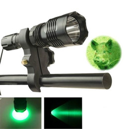 Green Hunting Flashlights NZ - LED Green Light Tactical Hunting Flashlight Waterproof Rechargeable 18650 Torch 30m Long Range Flash Light Torch Lamp With Gun Mount