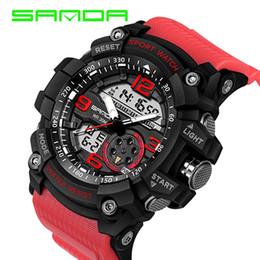 $enCountryForm.capitalKeyWord Australia - SANDA 759 Military Sport Watch Shock Watch Men Hot Sale Fashion Electronic LED Digital Wrist Watches Outdoor Waterpoof Clock 2018