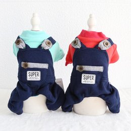 $enCountryForm.capitalKeyWord Australia - Winter Dog Clothing Four Feet Pet Couple Clothes Chiwawa Yorkie Bomei Striped Rompers Jumpsuits 18AW116