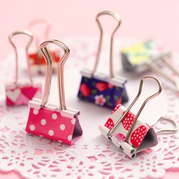 $enCountryForm.capitalKeyWord Australia - Hot Sale 24pcs box 19mm 25mm Mini Cute Kawaii Metal Holder Paper Clips Office Accessories Clip Binder Paperclip Clamps