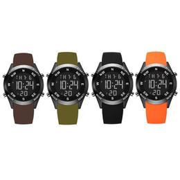 Men Digital Wrist Watches UK - Backlight Digital Watch PU Leather Wrist Watches Man Electronic LED Display Wristwatch Male Business Clock