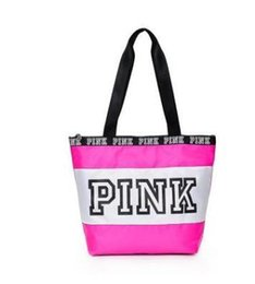 8672f9304c Victoria secret pink stripes online shopping - vs love pink girl bag travel  duffel bag women