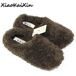 634cf1a7041 XiaoKaiXin Winter Warm Home Shoes Woman Plush Solid Indoor Floor Soft  Fluffy Silent Slippers Women Men Children House Slipper
