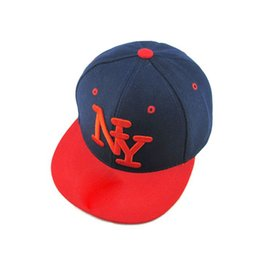 e0cff64f7c9  HEAD BEE  2018 Children NY Letters Baseball Cap Snapbacks Hip Hop Cap  Fashion Flat Hat for Kid Boys And Girls Casquette