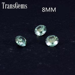 $enCountryForm.capitalKeyWord NZ - TransGems 8mm 2Carat Green Color Certified Man made Diamond Loose moissanite Bead Test Positive As Real Diamond Gemstone 1pcs