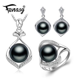 women bridal sets 2019 - whole saleFENASY pearl Jewelry,Pearl Pendant Necklace Freshwater ethnic earrings,antique ring,bridal jewelry sets,stud e