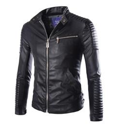 StyliSh coatS for winter online shopping - Luxury Pu Leather Jacket for Men Autumn Winter Motorcycle Jacket Male Stylish Slim Fit Jacket Faux Leather coat