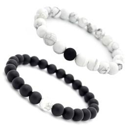 31ab7b1c1a61 2018 NEW Beaded Bracelets Natural Pumice Stones Charm Jewelry 8mm Yoga  Energy Bracelet Bangles Unisex White Bracelet